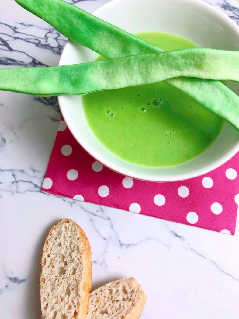 eiwei cremesuppe mit gr nen bohnen und avocado abnehmen. Black Bedroom Furniture Sets. Home Design Ideas