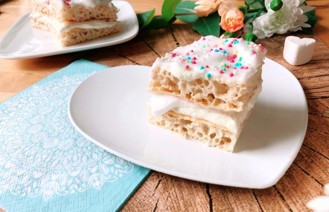 Birthday Cake Schnitten –  Lowcarb High Protein Rezept