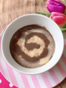 high protein pudding cinnamon bun