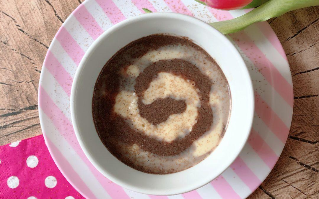 """High Protein Pudding """"Cinnamon Bun"""" – Zimtschnecken Eiweiß Pudding"""