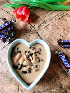 high protein snickers pudding