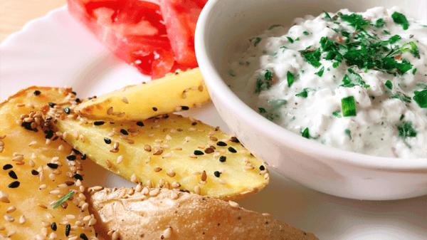 kartoffelspalten proteinquark rezept feature