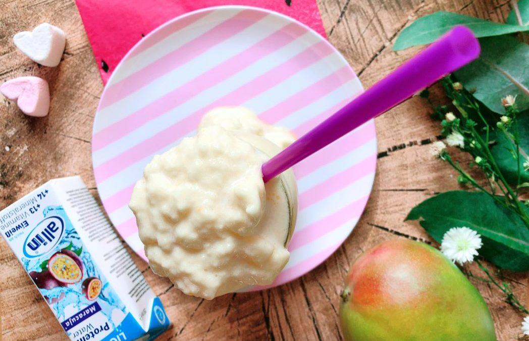 Mango Maracuja Slushy – High Protein Smoothie mit wenig Kalorien