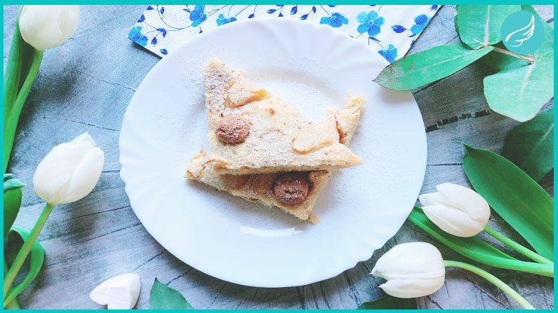 Protein Frühstückskuchen mit Polenta & Apfel