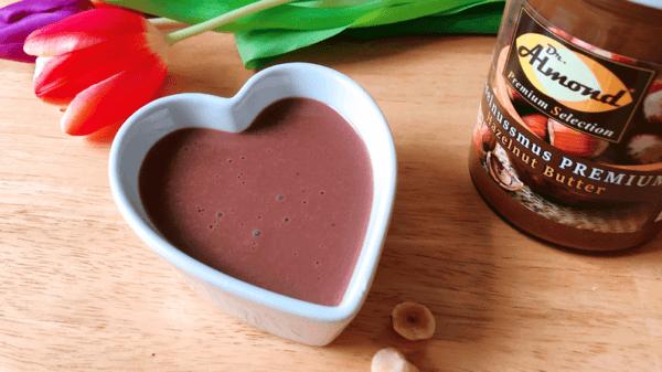 protein nuss nougat pudding rezept