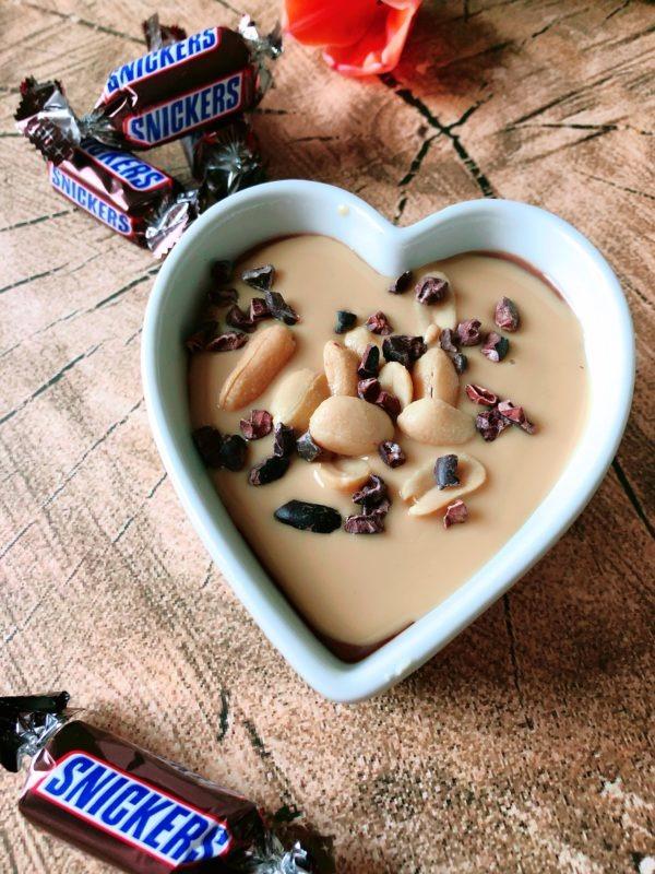 snickers pudding rezept