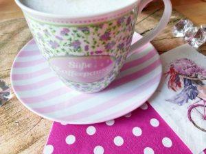 proteinkaffee kaffeetasse rosa