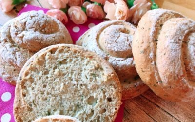 Butterige Lowcarb Toastbrötchen mit Kräutern