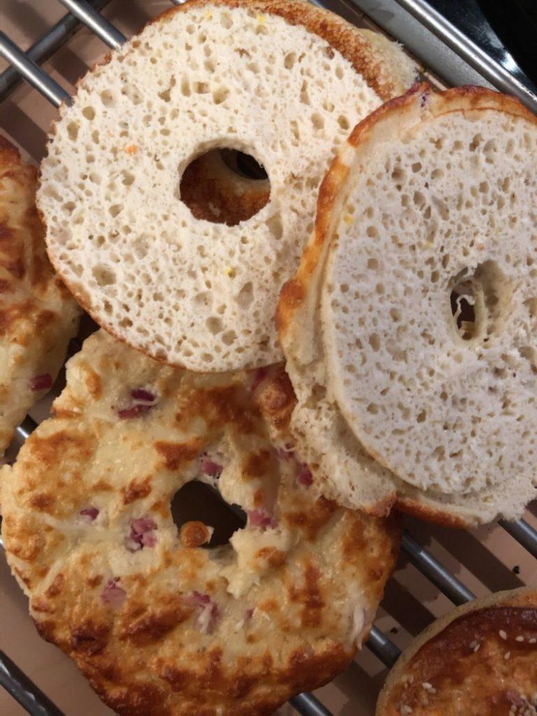 käse schinken proteinbagels