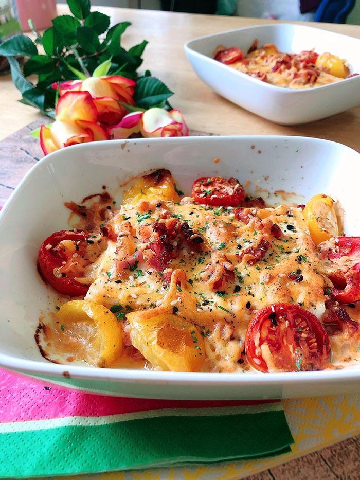 bacon auflauf feta tomate rezept