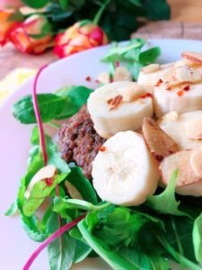 banana peanut burger rezept lowcarb