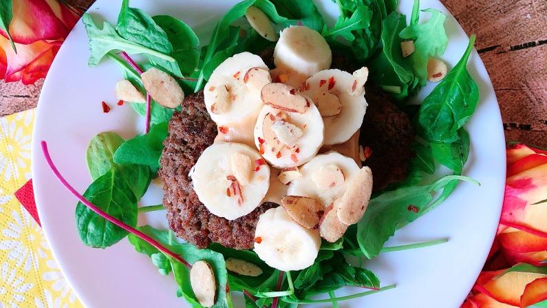 Bestes Burger Rezept der Welt: Rouxdolphs Banana Peanut Burger