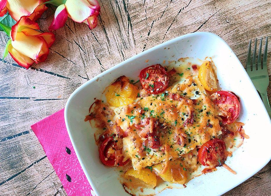 Feta Tomaten Auflauf mit Bacon – Rezept für Magenverkleinerung
