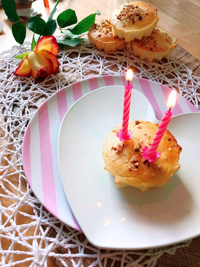 Käsekuchen Muffin Rezept als Geburtstagskuchen