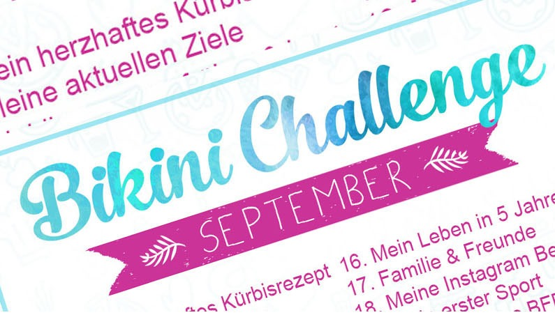 Bikinichallenge Herbst / Winter 2019 – September Übersicht