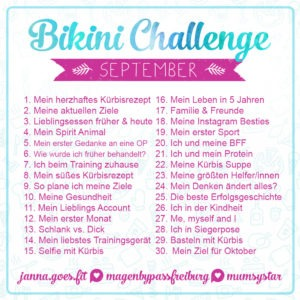 bikini challenge september