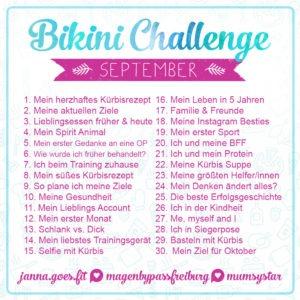 bikini challenge september