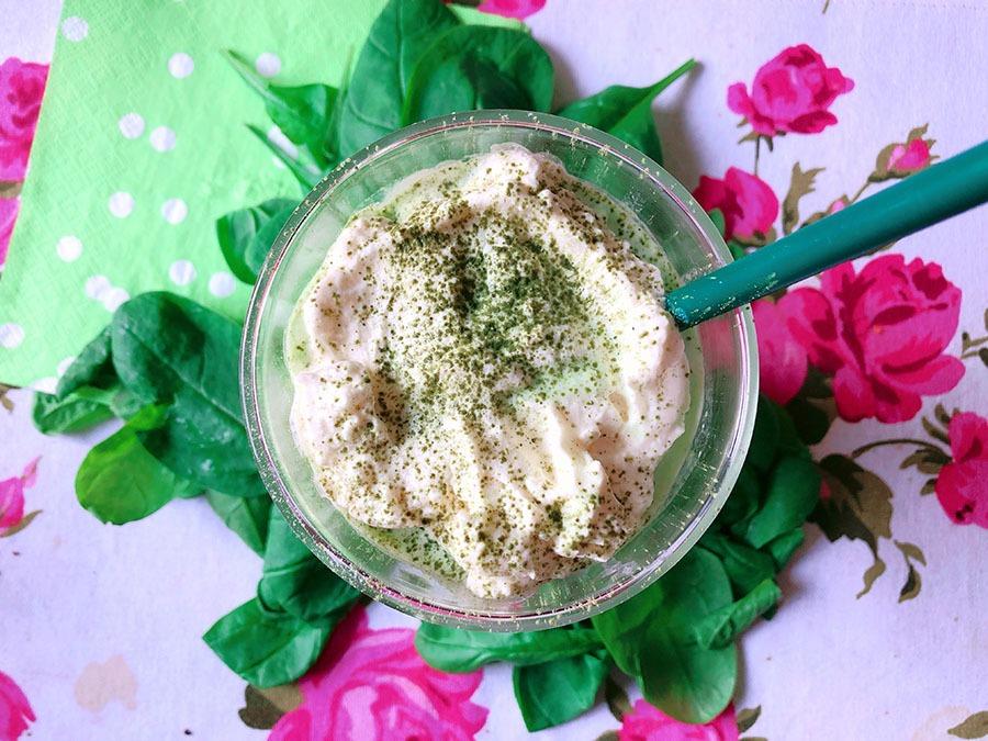 frozen matcha frappuccino spinach recipe