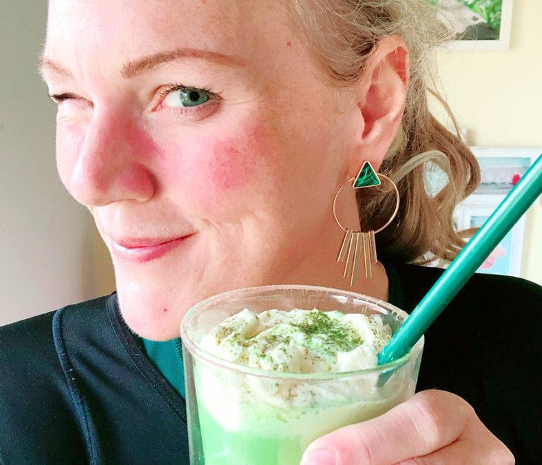 Protein Matcha Latte Frappuccino – Protein Slushy in grün