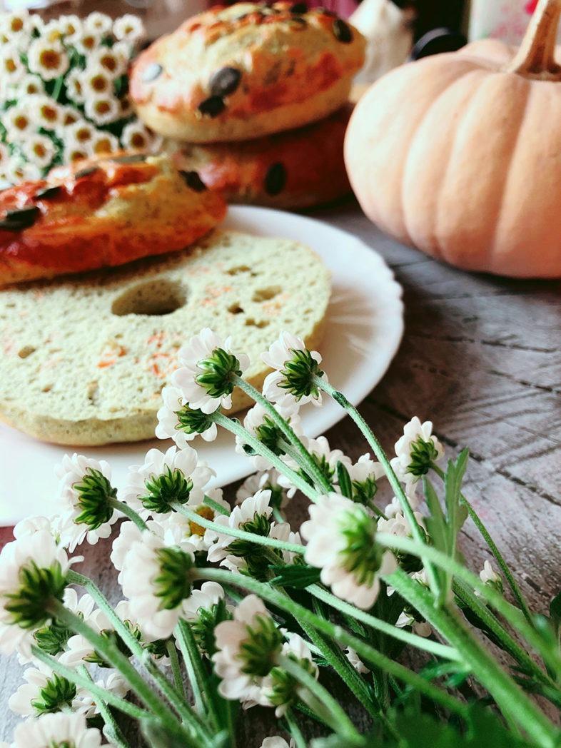 protein bagel rezept kuerbis herbst