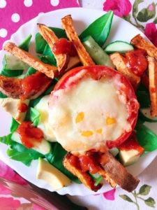 salat rezept gefuellte tomate ei