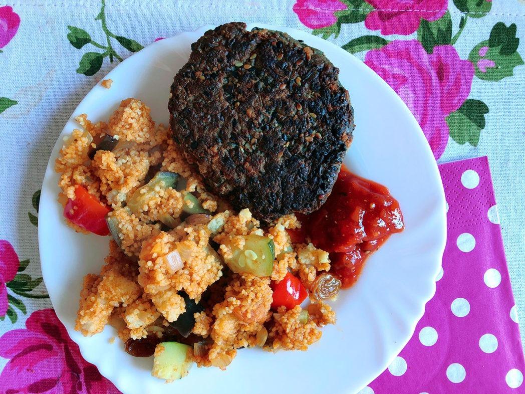 schwarze linsen burger rezept