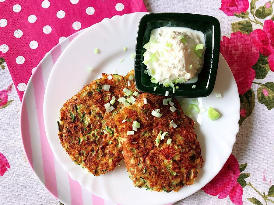 Zucchini Fritters – Protein Reibekuchen mit Zucchini