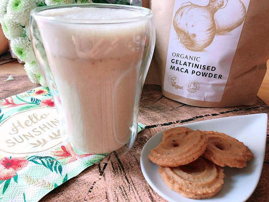haselnuss maca latte rezept