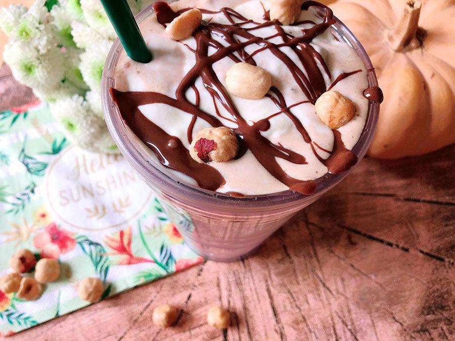 Nougat Haselnuss Frappuccino – High Protein Eis Shake Rezept