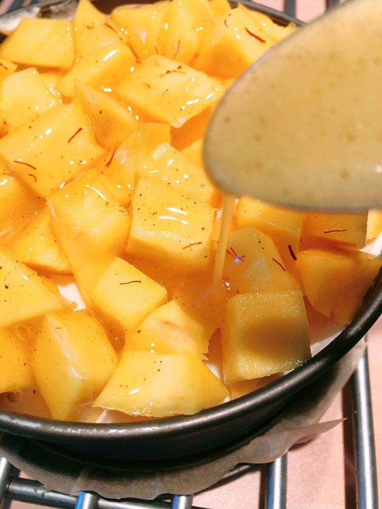 mango hokkaido torte lowcarb