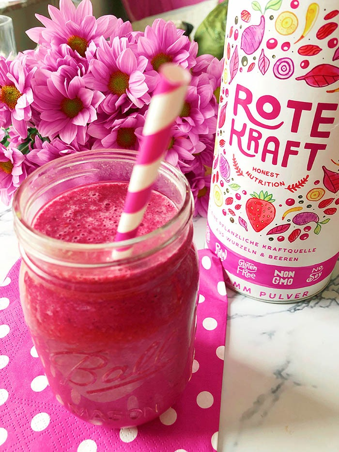 beeren rote beete smoothie mit superfood rezept