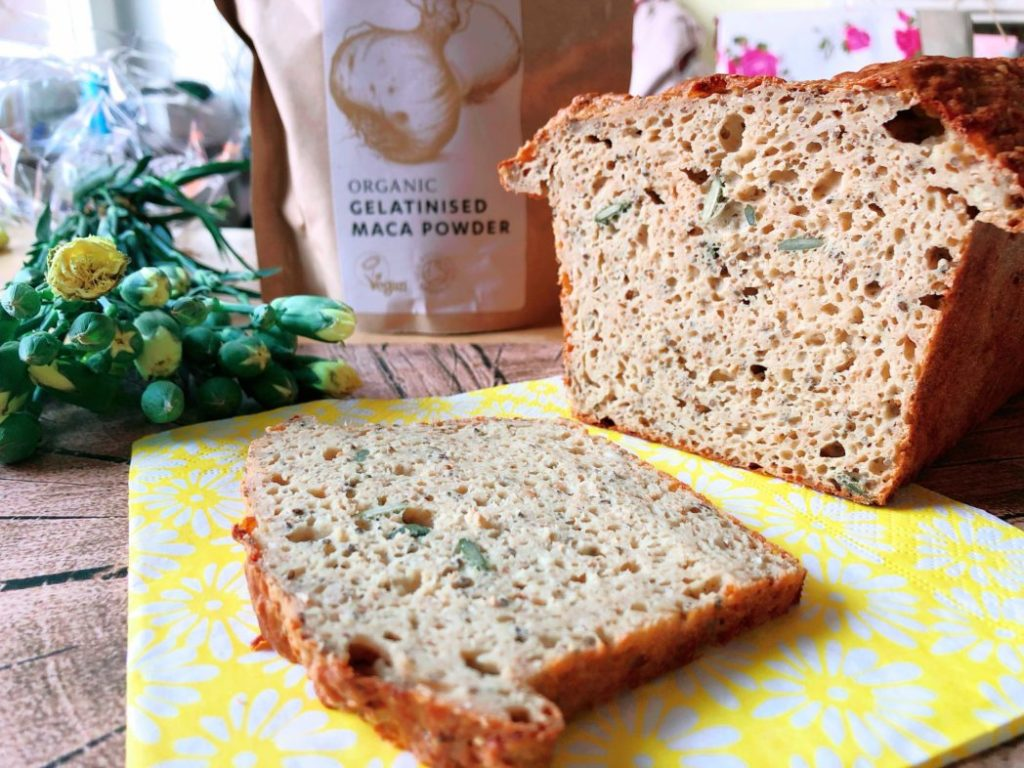 proteinreiches chia maca brot