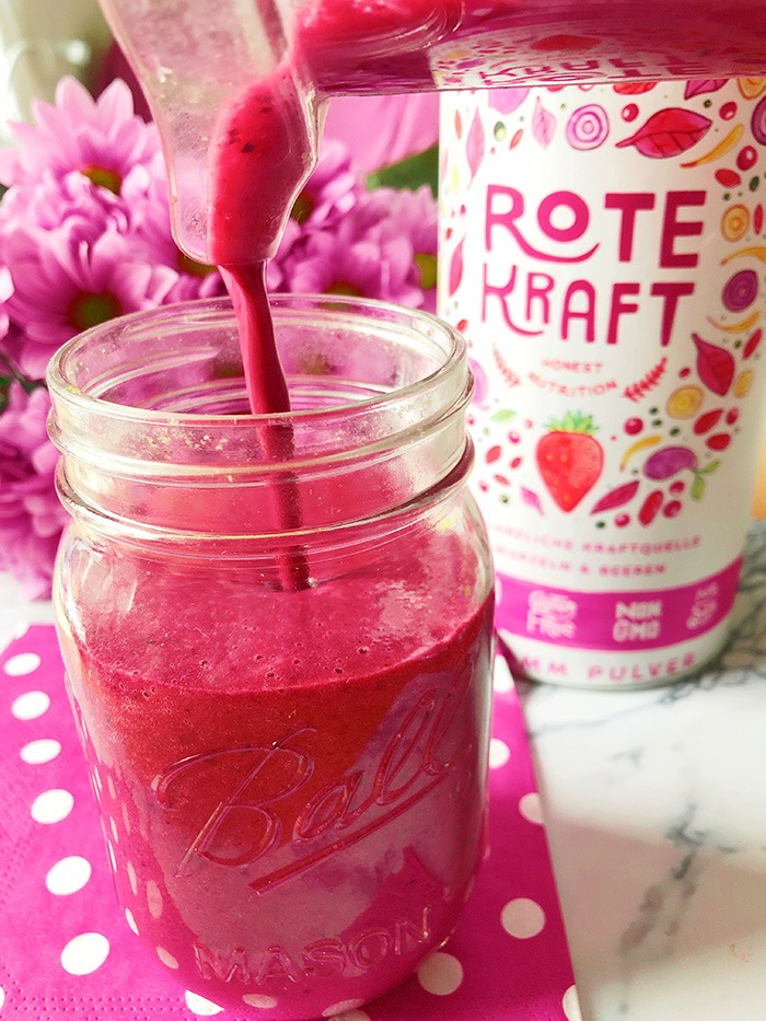 rote beete smoothie rezept mit superfood