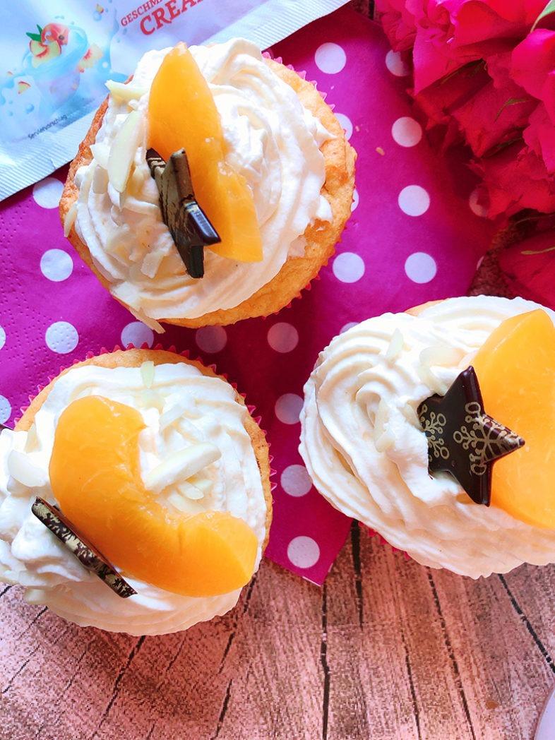 pfirsich cupcakes mit spekulatiusgewuerz