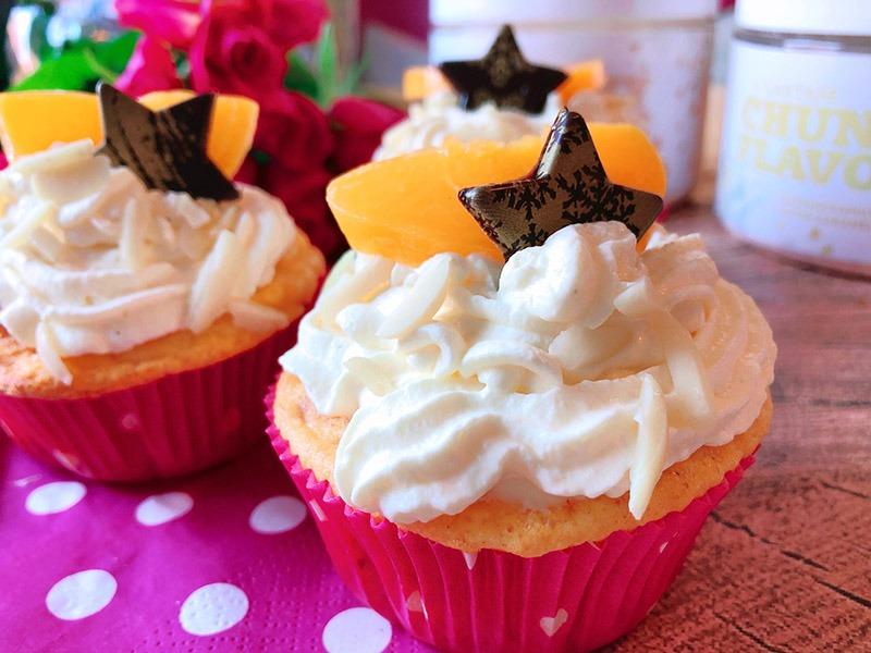 pfirsich sahne cupcakes lowcarb