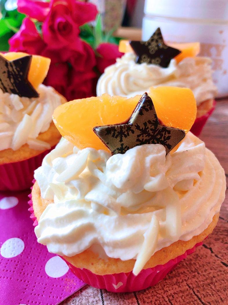pfirsich sauere sahne cupcakes