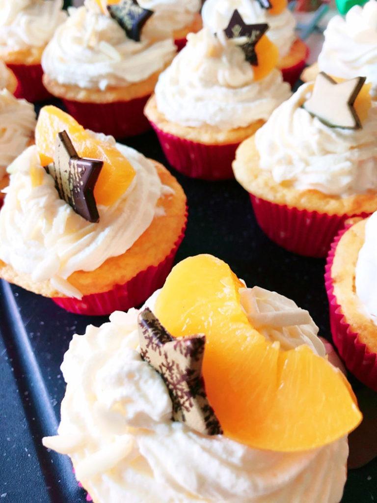 pfirsich spekulatius cupcakes
