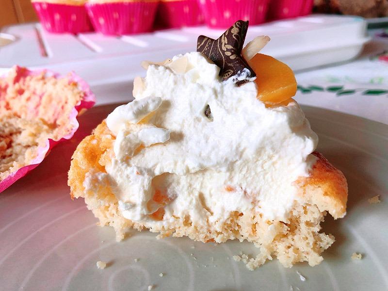 spekulatius pfirsich cupcakes lowcarb rezept