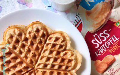Süßkartoffel Käse Waffel – Proteinreiche Waffel