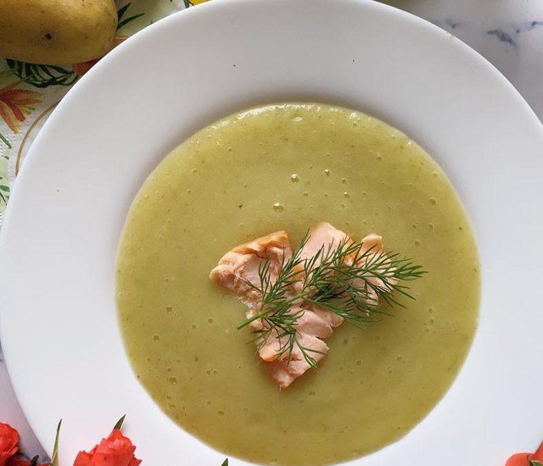Fenchel Cremesuppe mit Lachs