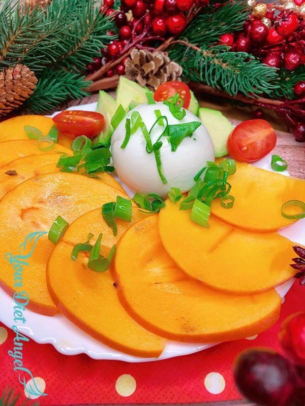 kaki mozzarella winterliche caprese1