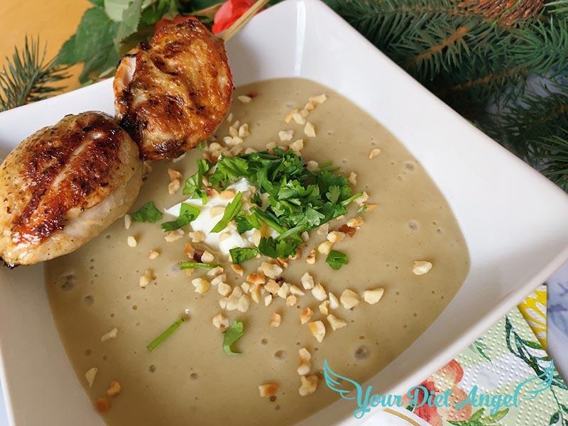 maronencreme suppe mit wachtelbrust2