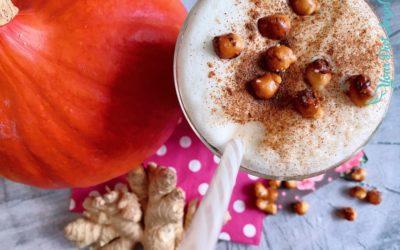 Pumpkin Spice Latte Macciato mit Reishi für die Abwehrkräfte