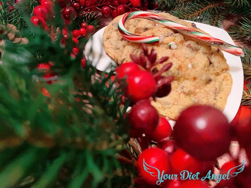 candy cane chocolate chip cookies8