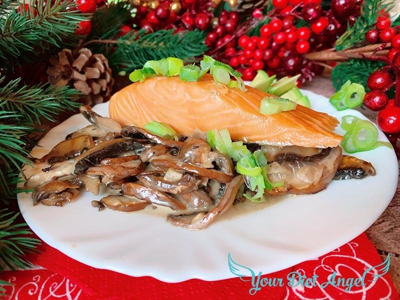 champignons mit streml lachs2