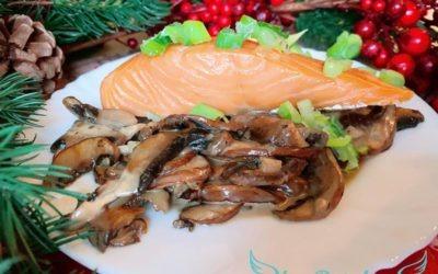 Stremel Lachs auf Champignons – Schnelles Mittagessen