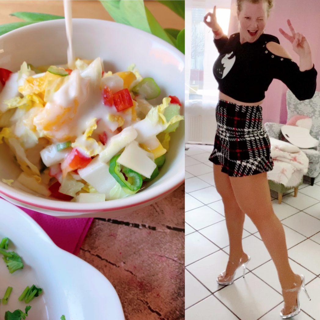 chinakohl mango salat