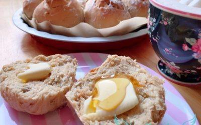 Kefir Frühstücksbrötchen über Nacht