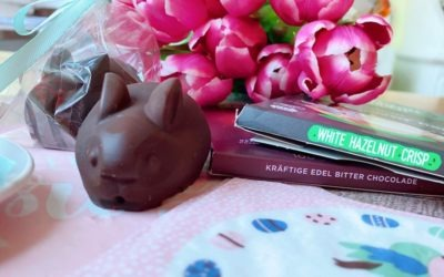 Lowcarb Schokoladen Osterhasen mit Haselnusscreme Füllung
