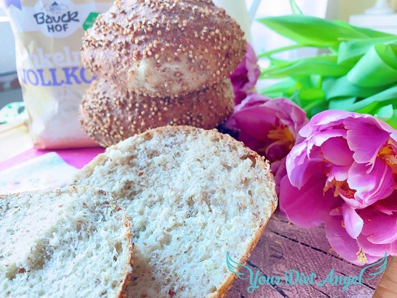 Urgetreide Brötchen mit Quinoa und Hirse